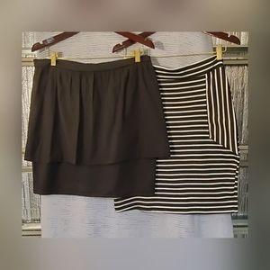 Lot of 2 Women's Skirts, Sz XL